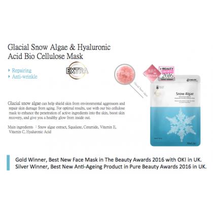 TTM Glacial Snow Algae & Hyaluronic Acid Bio Cellulose Mask