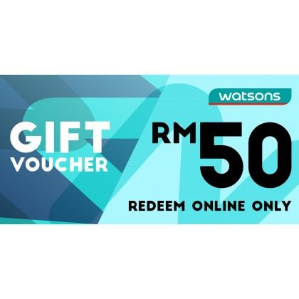 Watsons Voucher RM50