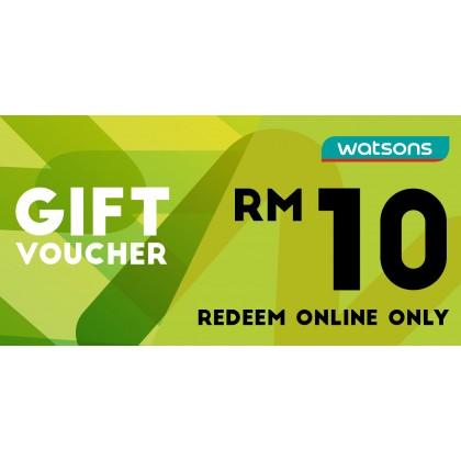 Watsons Voucher RM10